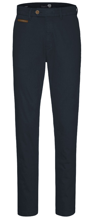 Gardeur chino model Benny 3, cotton flex donkerblauw