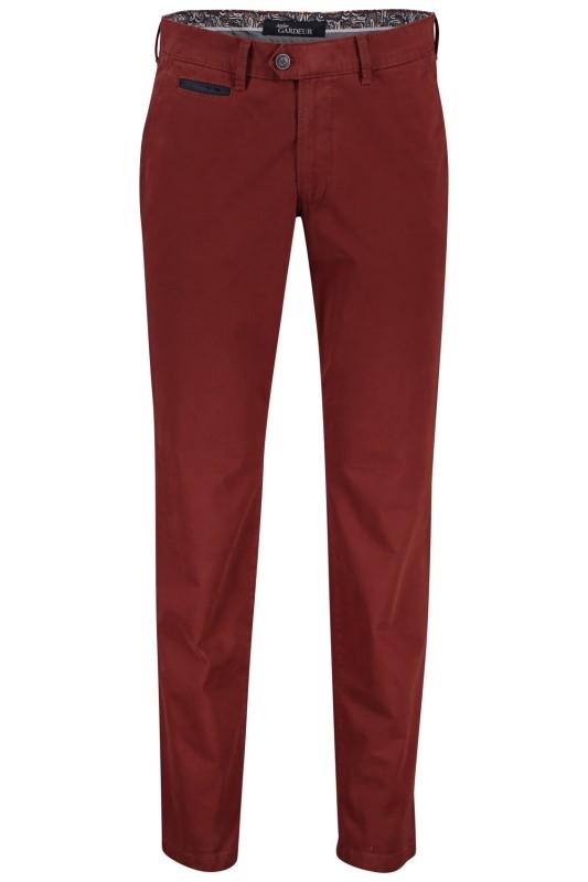 Gardeur chino model Benny 3, cotton flex rood