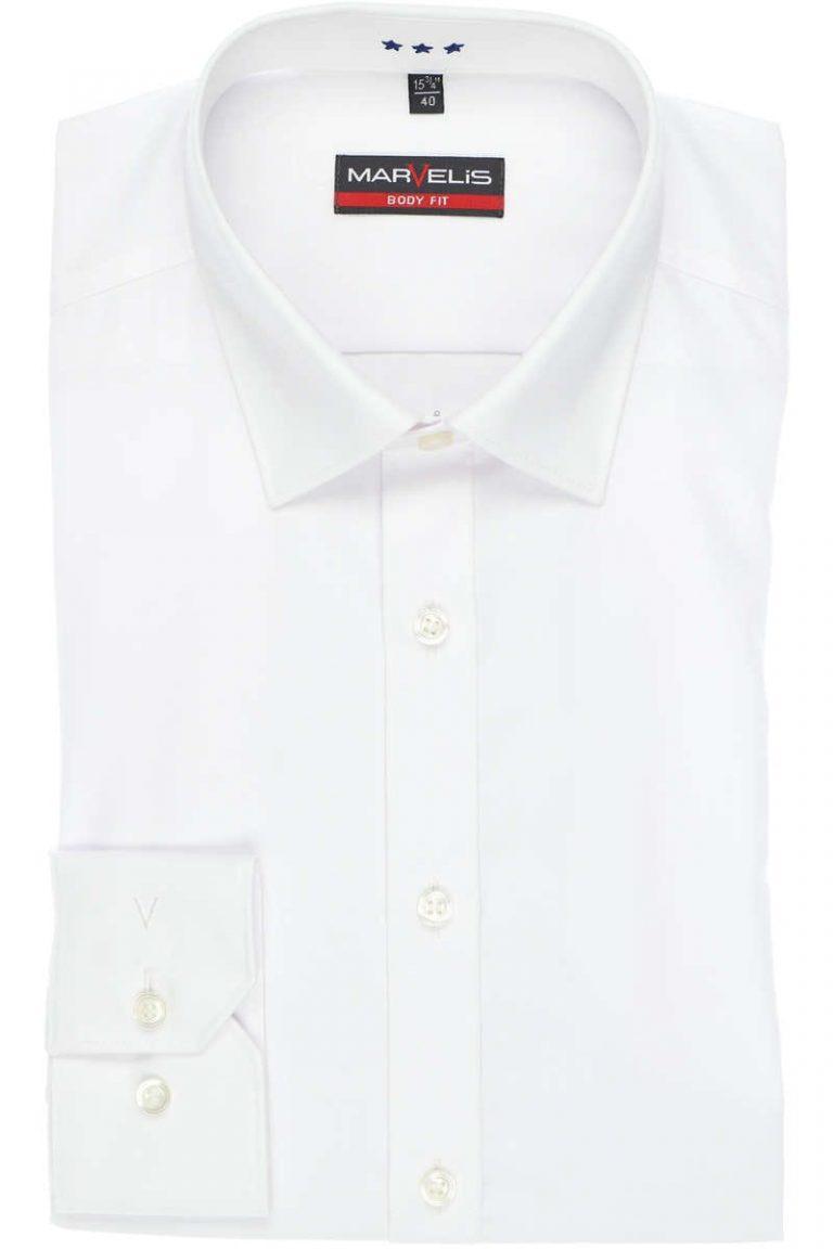Marvelis, body fit overhemd, wit
