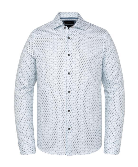 Vanguard overhemd, wit met grafisch dessin