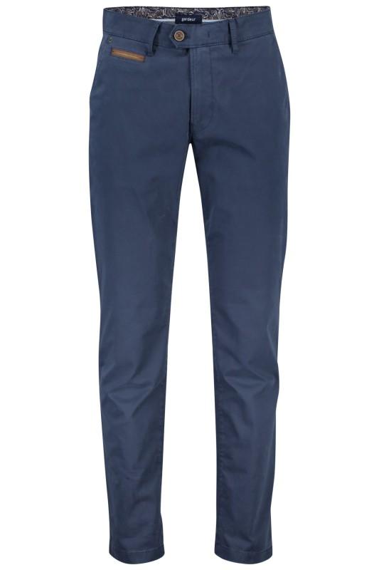 Gardeur chino model Benny 3, cotton flex  blauw