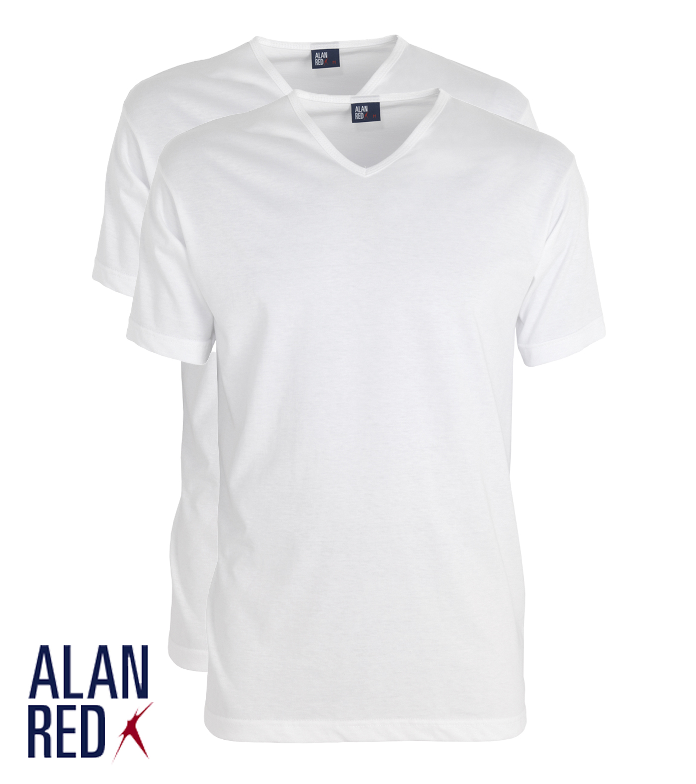 Alan Red Vermont - wit 2-pack