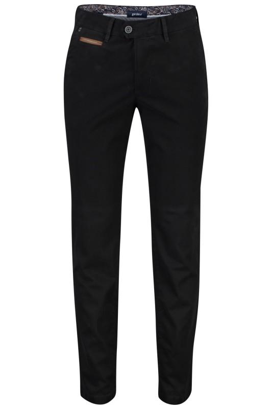 Gardeur chino model Benny 3, cotton flex, zwart zomer