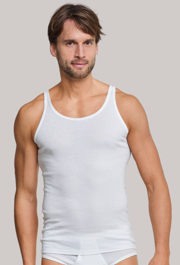 Schiesser Original Feinripp hemd-wit