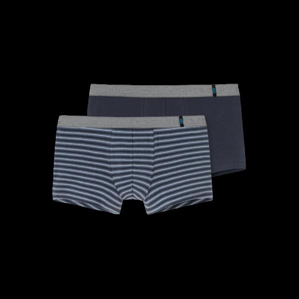 Schiesser 95/5 short kort- 2-pack grijs/streep