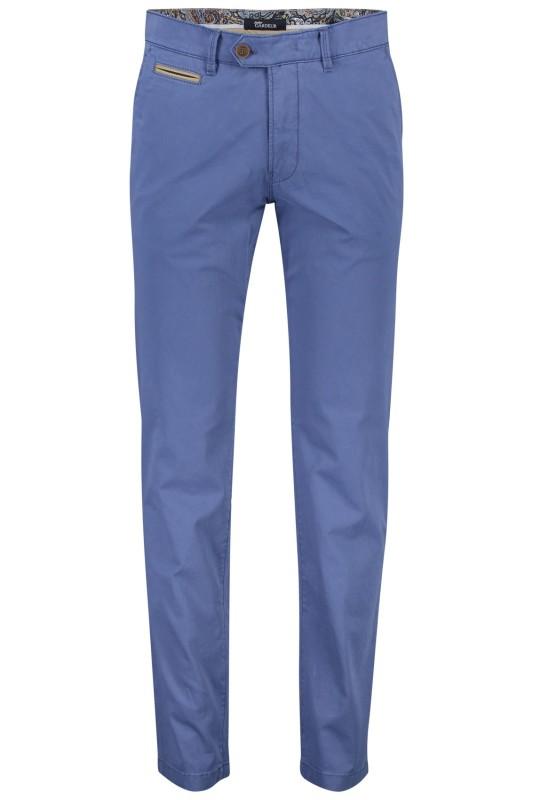 Gardeur chino model Benny 3, cotton flex, midden blauw