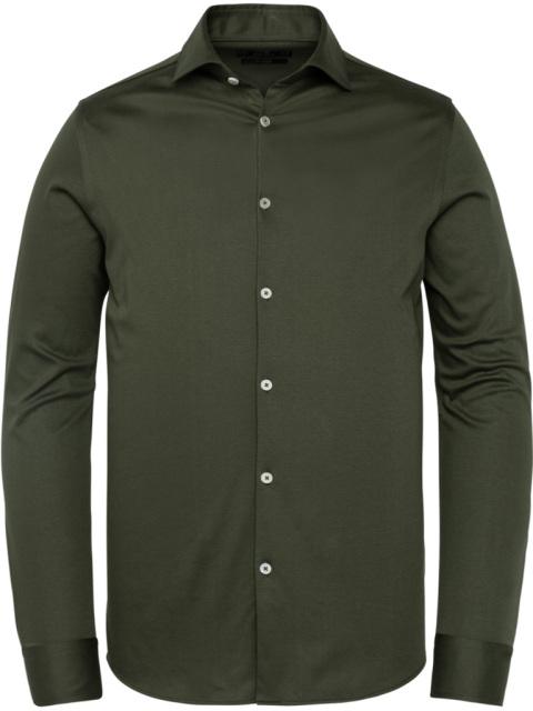 Vanguard, jersey overhemd, donkergroen, mercerized