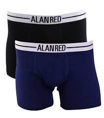 Alan Red  boxershort Lasting - zwart/ultramarine 2-pack