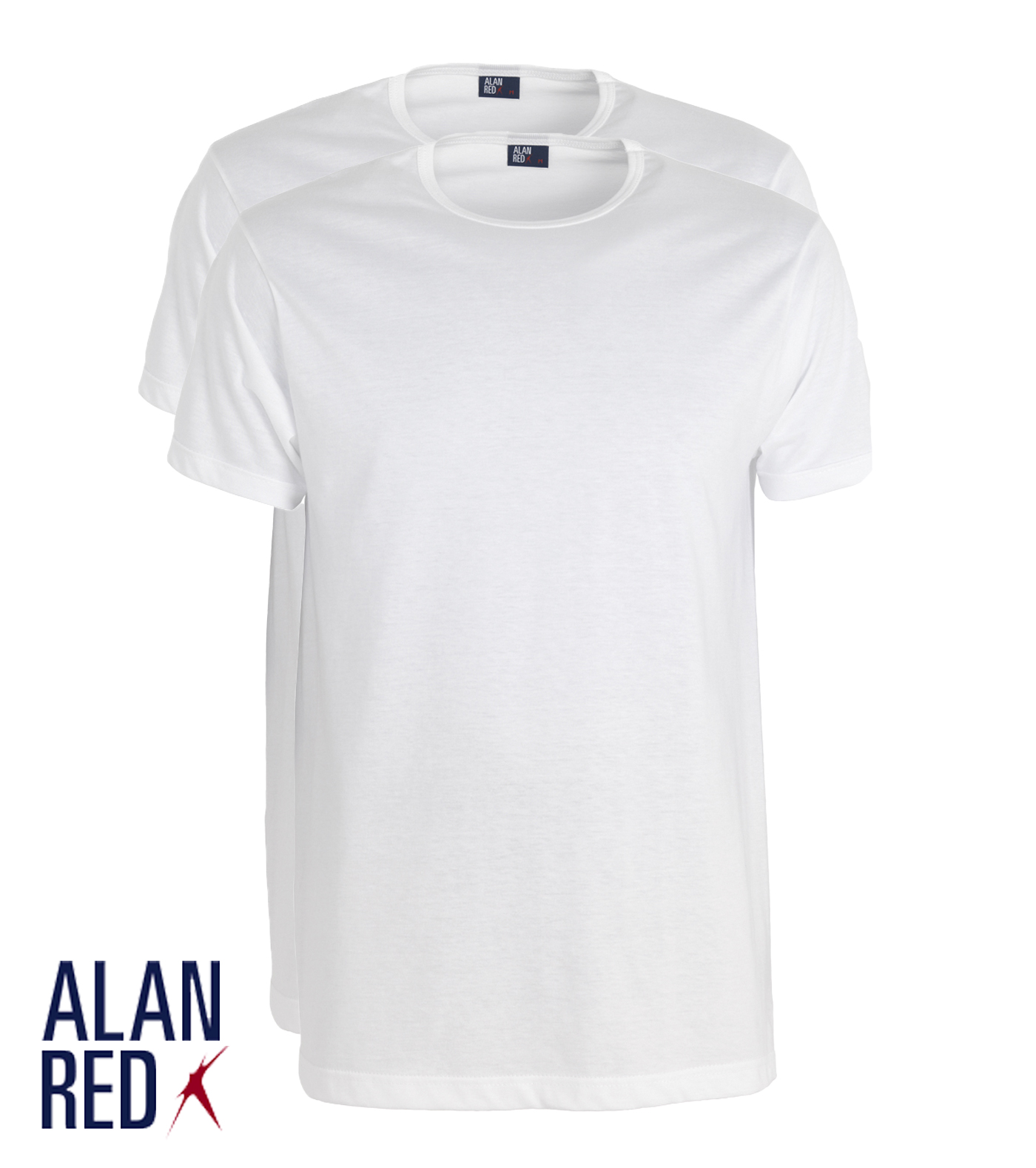 Alan Red Derby - wit 2-pack