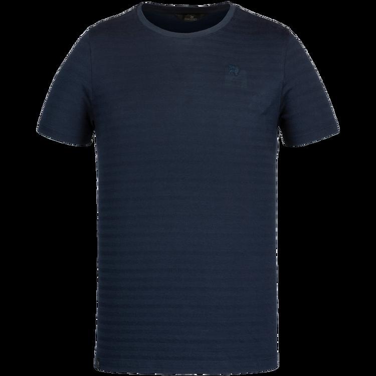 Vanguard t-shirt, donkerblauw, streeppatroon