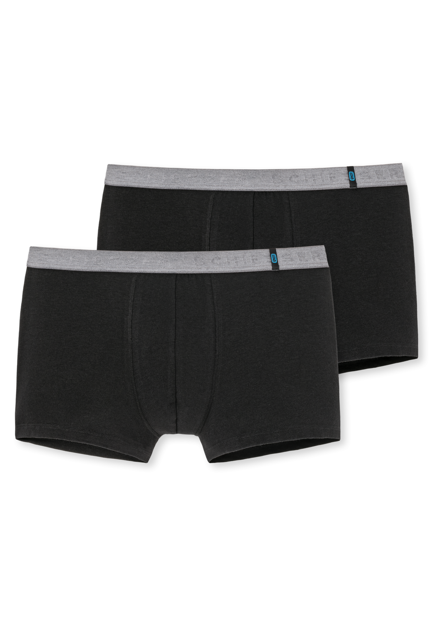 Schiesser 95/5 short kort 2-pack zwart